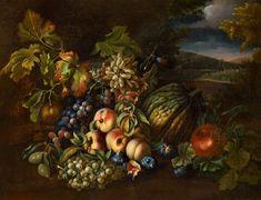 Italienischer Meister, Früchtestillleben,