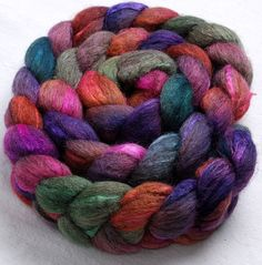Cornish Haven  150g spinning /felting fibre    Oatmeal BFL /Tussah SilkExtra soft 3 times blended hand dyed top by YummyYarnsUK, £16.99