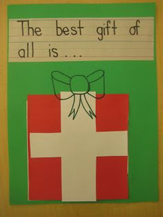 Kindergarten Smiles: Holiday Ideas Gift box flips up to show an idea - animals, family, you!