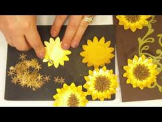 How to Make a 3D paper Sunflower.MP4 - YouTube