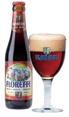 Cerveja Floreffe Double, estilo Belgian Dubbel, produzida por Lefebvre, Bélgica. 6.3% ABV de álcool.