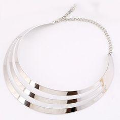 Punk Round Hollowed Alloy Necklace #women, #men, #hats, #watches, #belts, #fashion