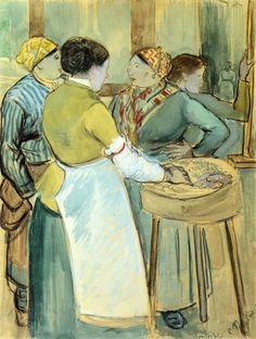 Camille Pissarro — Market at Pontoise via Camille PissarroSize: 62x46...