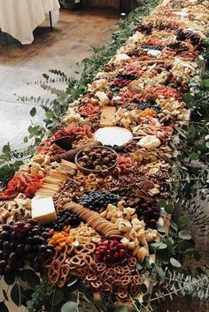 Rust Wedding Color Ideas ★ rust wedding color long catering table decorated with greenery savourandgraze Fall Wedding, Rustic Wedding, Our Wedding, Destination Wedding, Wedding Planning, Dream Wedding, Wedding Table, Autumn Weddings, Wedding Ceremony