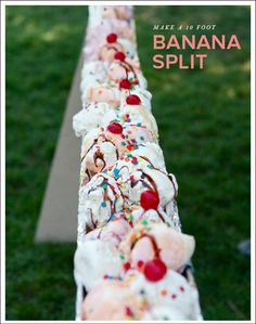 Check out this 10 Foot Banana Split for your next party