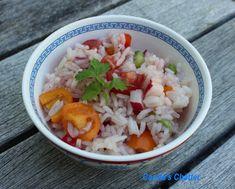 Carole's Chatter: Italian style rice salad (no mayo) Half Chicken, Long Grain Rice, Rice Salad, Italian Style, Vinaigrette, Sheet Pan, Quotations, Stuffed Peppers, Dishes