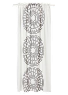 Anno pisara curtain in grey/white or black/white