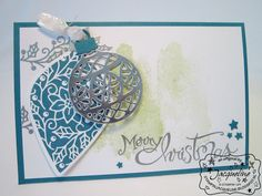 Stampin' Up! by Stampin Jacqueline: Merry Christmas, Embellished Ornaments en Thinlits Dies