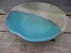 NancyBloklandPottery, serving bowl in porcelain high fired