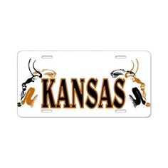 Kansas Bison Aluminum License Plate