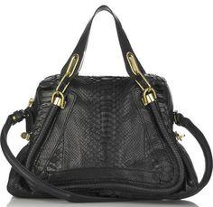 Chloe Paraty Bag in black python
