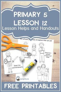 I love this site. Great handouts and other resources to help teach Primary 5 Lesson 12: Important Ordinances Are Restored
