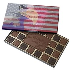 Fourth of July Independence Day Personalized 45 Piece Box Of Chocolates