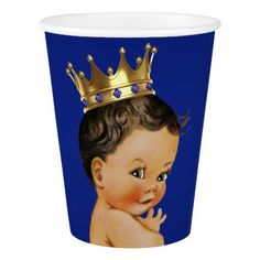 Royal Blue Gold Ethnic Prince Child Bathe Paper Cup. ** Find out more by going to the image link