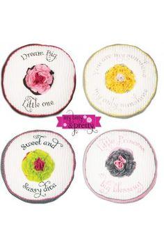 Baby Itty Bitty Pretty Super Soft Handmade Round Pillow BB01201
