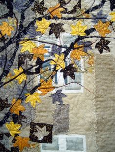 Bozenas Autumn art quilt. This makes me think of how VT must be looking right now...