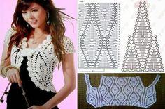 Luty Artes Crochet: Blusas em crochê +Gráfico