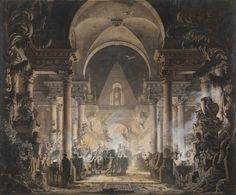 Louis Jean Desprez , The Tomb of Agamemnon
