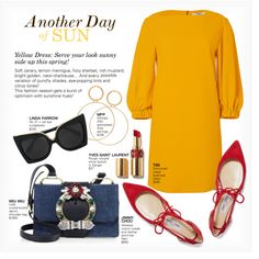 ANOTHER DAY OF SUN by paint-it-black featuring TIBI, Jimmy Choo, Miu Miu, Maria Francesca Pepe, Linda Farrow, CasualChic, yellowdress and Spring2017