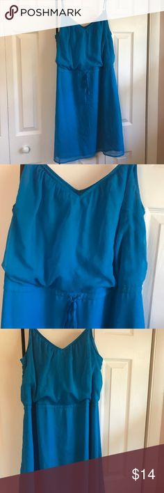 L Blue Lightweight Dress Worn a few times Old Navy Dresses
