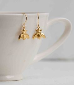Gold Honey BEE EARRINGS