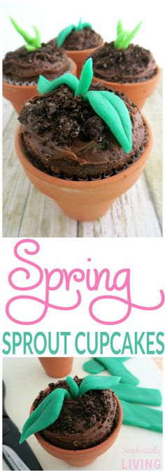 Spring Sprout Cupcakes Simplistically Living