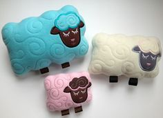 """In The Hoop :: Softie Toys :: Lamb Softies - Embroidery Garden 