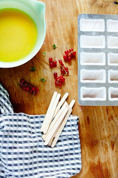 Roasted Mirabelle Plum, Red Currant & Lemon Verbena Popsicles // Sassy Kitchen