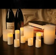 Candle Impressions 11-piece Flameless Candle Set with Auto Timer option - White - Amazon.com
