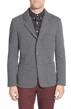 Slate & Stone 'Adam' Houndstooth Knit Three-Button Sport Coat