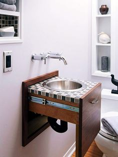 wow... a sink in a drawer!!