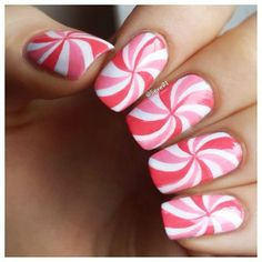These pinwheel nails are a fun way to break away to a new style! #myavalon #beauty #style