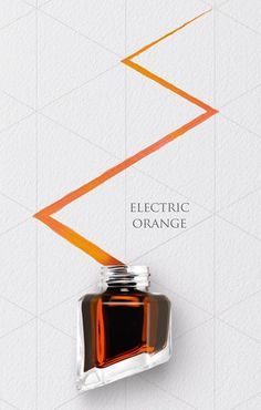 ELECTRIC ORANGE - CARAN d'ACHE Pencil And Paper, Fountain Pen Ink, Writing Practice, Writing Instruments, Calligraphy Art, Ink Color, Ink Cartridges, Markers, Illustration Art