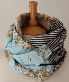 pretty map scarf