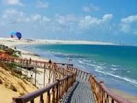 this is a picture of canoa quebrada a national touris beach in a Brazil.