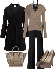 Example - Women's Contemporary Business Casual- swap out the jacket for a cardi, and I might actually have the pieces to make this outfit.  @ http://autocoverageinsurance.com/blog/ #insurance #business #financial