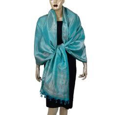 Summer Turquoise Scarf Shawl India Clothing Fabric Brocade Silk 44 Inches X 72 Inches ShalinIndia,http://www.amazon.com/dp/B002SXP5AM/ref=cm_sw_r_pi_dp_Pd5-rb16ZEZ3W5Z2