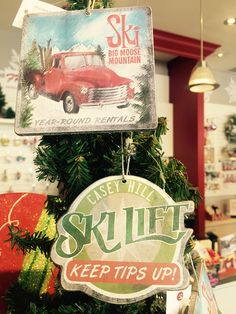 Are you a #skiing fanatic? These retro #ornaments are a popular addition to your #Christmas tree! | www.georgianchristmas.ca
