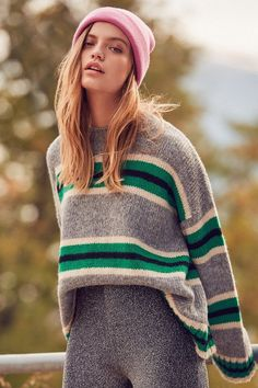 Urban Outfitters UO Oversized Striped Boyfriend Sweater