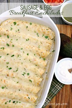 Sausage and Egg Breakfast Enchiladas are a delicious make-ahead breakfast that everyone loves!