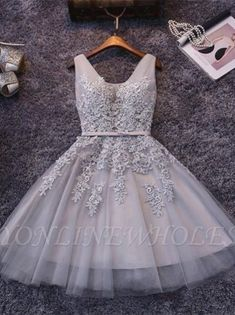 🎒😇👡👊👖🧣👒👖💼😵🙄👛👖 Cheap Homecoming Dresses, Hoco Dresses, Prom Party Dresses, Cheap Dresses, Dresses For Teens, Mini Dresses, Formal Dresses, Grey Dresses, 1950s Dresses