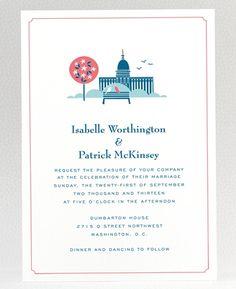 Washington DC wedding invite