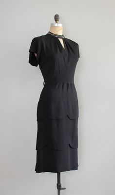 1940s dress | SET THE STAGE 40s rayon dress