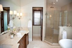Adding on a Bathroom  Some home floor plans don't come with enough bathrooms to suit a family's needs. If you are only dealing with one or one and half bathrooms, then you may want to add a bathroom or two to your property. This is definitely possible, as long as space allows. You can have your half bathroom transformed into a full bathroom and a completely new bathroom remodeling for another part of your home.