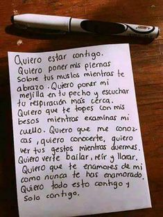Love quotes for him - Quiero volver a vivirlo 😏😌😔 Love Quotes For Him, Me Quotes, Relationship Goals Tumblr, Relationships, Love Phrases, Mo S, Sweet Words, Love Messages, Spanish Quotes