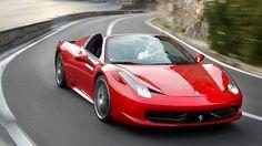458 Ferrari Italia spyder cruising winding Amalfi road