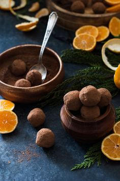 Fresh Orange & Dark Chocolate Truffles - dairy free, paleo, refined sugar free, clean eating