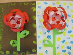 Targeta de Sant Jordi: rosa de tires de paper