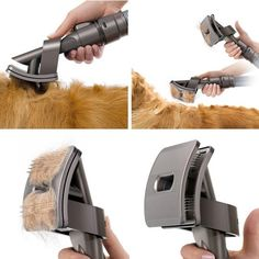 """Most homeowners will tell you that the largest chore in keeping a home clean is staying on top of the pet hair. It's everywhere. Furniture, walls, floors, tops of appliances — places it shouldn't be! To help you tackle the problem before you're on cleanup duty, Dyson has made a cool """"sucky-brush-attachment-thing."""""""