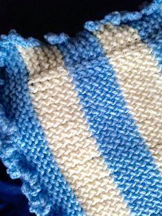 Loom Knitted Baby blanket loom knitted by Karen Inman
